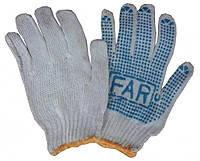 Перчатки рабочие FAR с ПВХ с точками №12