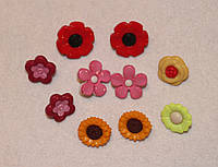 Пуговица  набор Цветочки 574 упаковка 10 шт