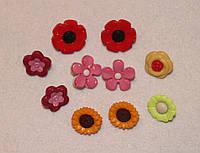 Пуговица  набор Цветочки 574 упаковка 10 шт, фото 1