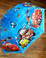 Детский зонт-трость для мальчиков Тачки опт и розница V312