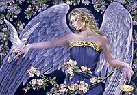 Схема для вышивания бисером Tela Artis Ангел и голубь ТК-070