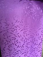 Рулонные шторы ткань НАТУРА 512 фиолетовый цвет 40см