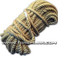 Канат джутовый веревка 10 мм х 50 м - пеньковый - Украина