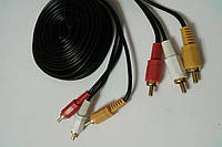 Шнур соединительный 3RCA х 3RCA,длина 4,5м YA