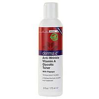 Derma E, Гликолевый тоник против морщин с витамином A, с папайей, (175 мл)