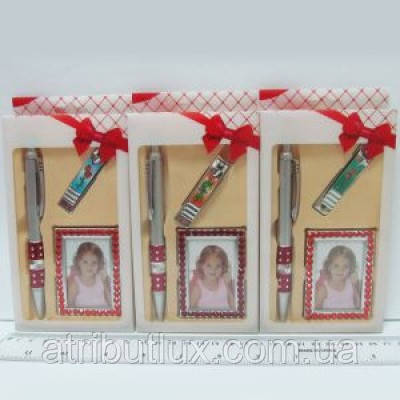 Набор подарочный 2226 Стразы (Ручка+Ф/рамка+Маник.щипцы)