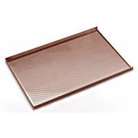 Противень с с трёхсторонней обортовкой перфорованый 60х40 см алюминий с силиконовым антипригарным по Hendi