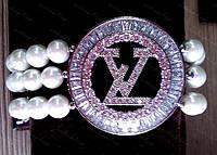 Браслет Луи Виттон (Louis Vuitton) Triple Shine, жемчуг и стразы