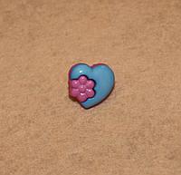 Пуговица Цветик в сердечке 597 поштучно, фото 1