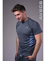 Футболка тенниска мужская Avecs AV-30070 Dark Gray #17 Авекс Размеры S M L XL