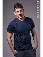 Футболка тенниска мужская Avecs AV-30070 Blue #75 Авекс Размеры S M L XL XXL