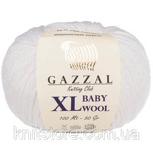 Пряжа Gazzal Baby Wool XL Белый