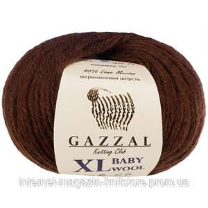 Пряжа Gazzal Baby Wool XL Коричневый