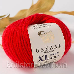 Пряжа Gazzal Baby Wool XL Красный
