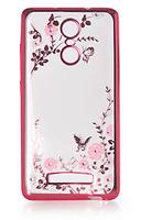 Силиконовый чехол Luxury Flowers на Xiaomi Redmi Note 3 / Note 3 Pro Pink
