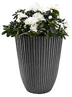 Напольный садовый горшок вазон для цветов, высота 36 см