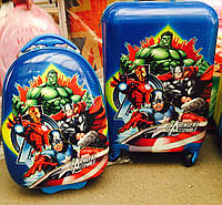 Набор Чемодан дорожный детский с кодовым замком+Овальный Avengers Assemble  2212-2412-39