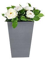 Напольный садовый горшок вазон для цветов серый