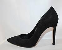 Классические женские замшевые элегантные туфли на шпильке