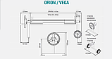 Сматывающее устройство Orion (Орион), телескопический вал, для накрытий max 3-4,6х11м, фото 3