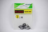 Крючки KAIDA Iseama ring 3 размер (10шт/в.уп.)