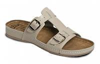 Обувь анатомическая - шлепанцы женские анатомические с массажной стелькой(белый, бежевый, кораловый)