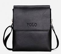 Мужская сумка Polo 6609ВL черная, фото 1