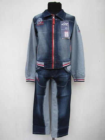 Джинсовый костюм A-yugi для мальчиков 98 роста, фото 2