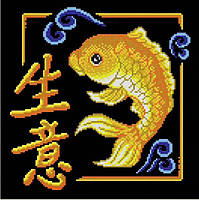 Схема для вышивки бисером Золотая рыбка (бизнес)