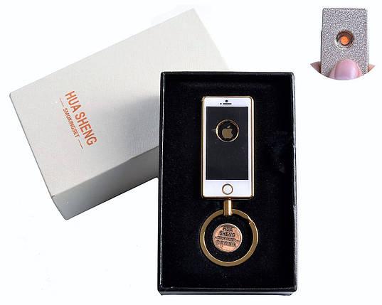"""Спиральная USB-зажигалка """"IPhone"""" №4808-3, брелок в виде телефона и спираль накаливания для поджига сигареты, фото 2"""