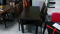 Стол из бука Степ 120х80х75 (IKEA) (цвет прозрачный, коричневый/черный )