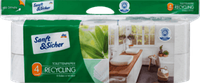 Туалетная бумага Sanft&Sicher Toilettenpapier Recycling 4-lagig, 10x160 Blatt, 1600 Bl