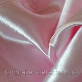 Атлас  розовый шторный