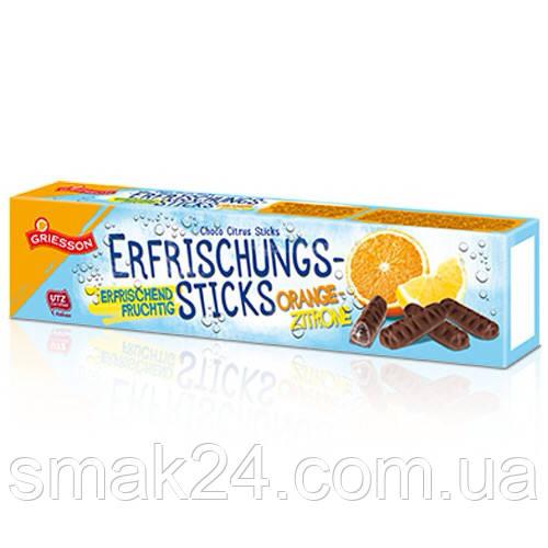 Шоколадные конфеты ( шоколадные палочки )  с апельсиново-лимонным соком внутри Германия 150г