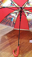 Детский зонт-трость со свистком для мальчиков Человек-паук опт и розница V314