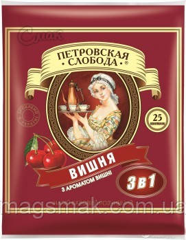 Кофе Петровская Слобода 3 в 1 Вишня, 25 x 20 г, фото 2