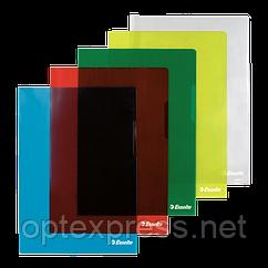 Папки-куточки глянсові, кольорові, міцні A4 / 150 мік, Esselte