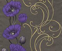Обои бумажные Эксклюзив 049-15 черно-фиолет