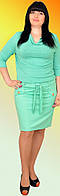 Стильное удобное летнее платье с хомутом, имитация костюма