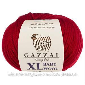 Пряжа Gazzal Baby Wool XL Вишневий