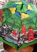 Детский зонт-трость для мальчиков Ниндзяго опт и розница V315