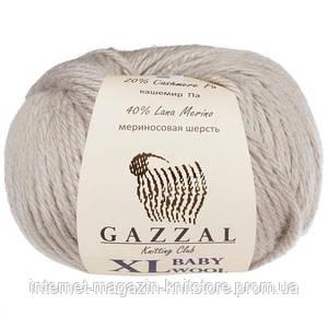 Пряжа Gazzal Baby Wool XL Сірий