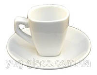 Чашка кофейная 70 мл с блюдцем белая ''HR1312'' 1 шт.