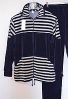Женский спортивный костюм велюровый на х\б основе ( большой размер