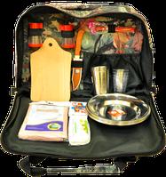 Термосумка с набором для пикника, подарок для туриста, удобная и практичная