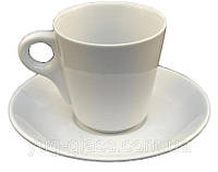 Чашка чайная 200 мл с блюдцем белая ''HR1311'' 1 шт.