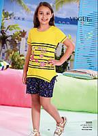 Детский комплект футболка+шорты для девочки Турция. VOGUE 20005 8/9. Размер на 8-9 лет.