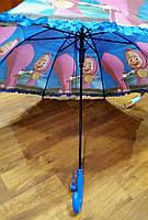 Детский зонт-трость для девочек Маша и Медведь опт и розница V316