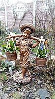 Садовая скульптура. Скульптура Мальчик с коромыслом