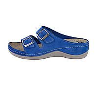 Обувь анатомическая - шлепанцы женские анатомические (замш синий)